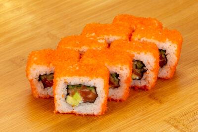 Калифорния с лососем - Доставка суши и роллов в Омске, Мистер-Крабс, 21 Амурская, 16